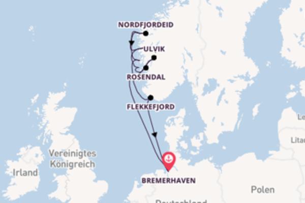 In 8 Tagen nach Bremerhaven