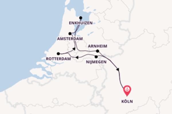 Tulpenkreuzfahrt ab/bis Köln