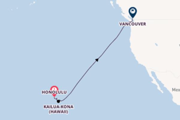 Kreuzfahrt mit Celebrity Eclipse von Honolulu nach Vancouver