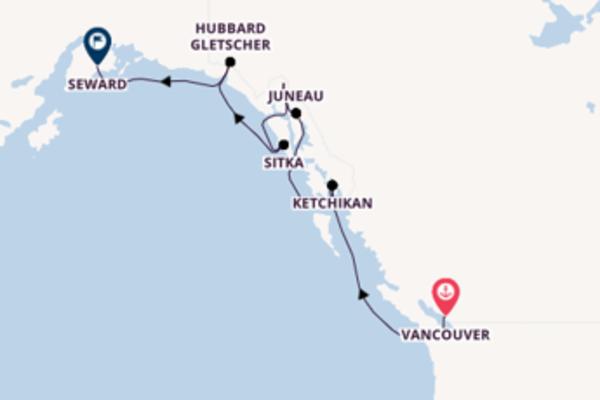 In 8 Tagen nach Seward über Inside Passage