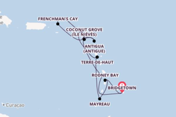 Admirez à bord du bateau Seabourn Odyssey, la destination: Carambola Beach