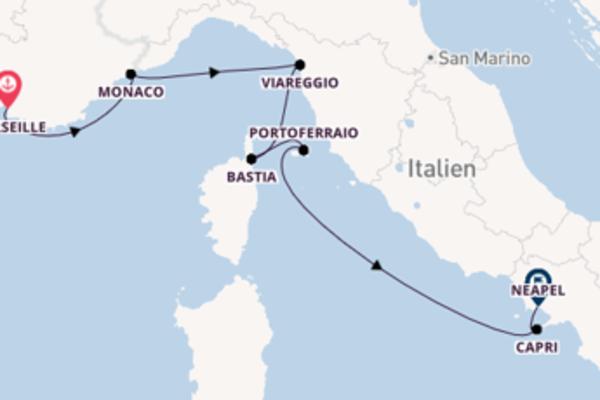 Erleben Sie Marseille, Bastia und Neapel