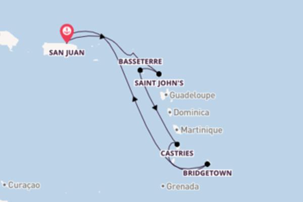 8 giorni di crociera fino a San Juan