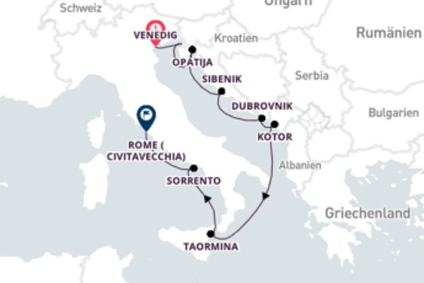 Erleben Sie 10 Tage Koper und Rom (Civitavecchia)