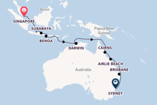 18 day journey to Sydney from Singapore