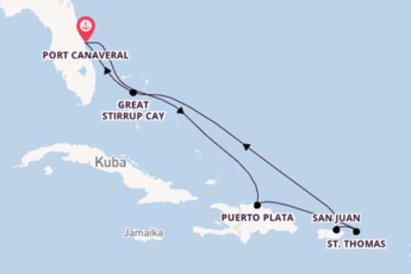Port Canaveral und St. Thomas erkunden