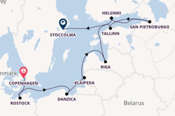 A bordo di Norwegian Dawn fino a Stoccolma