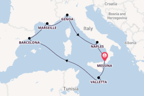 8 day cruise with the MSC Seashore to Messina