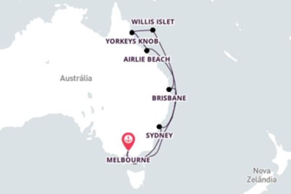 Jornada de 13 dias até Melbourne com o Celebrity Eclipse
