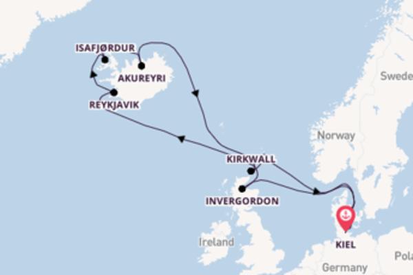 15-daagse cruise met de AIDAbella vanuit Kiel