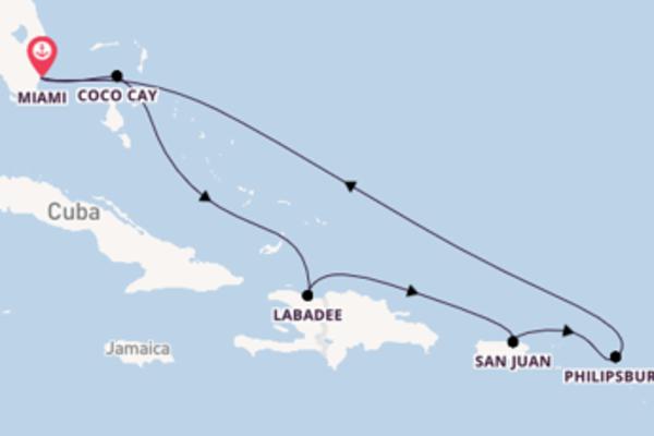 9-daagse cruise vanaf Miami