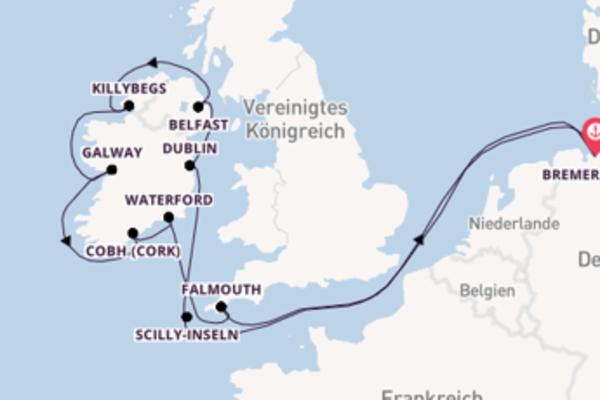 12 Tage Westeuropa Kreuzfahrt