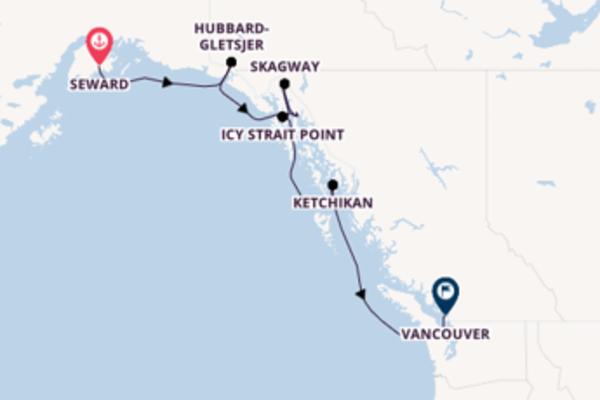 Cruise naar Vancouver via Hubbard- Gletsjer