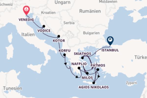 Venedig, Korfu und Istanbul erleben