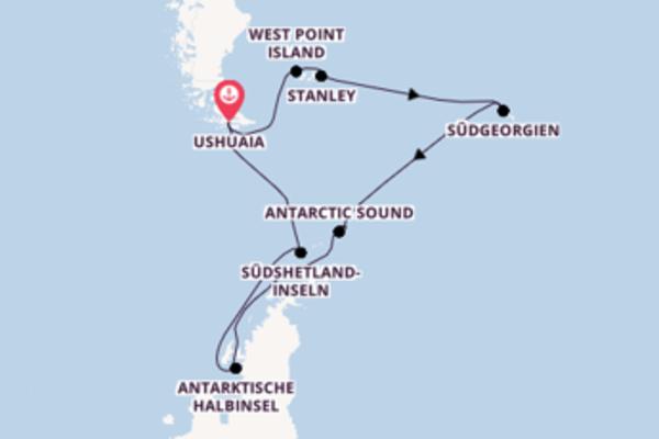 Erkunden Sie 19 Tage Antarctic Sound und Ushuaia