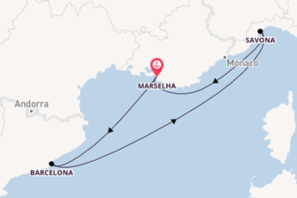 Charmoso cruzeiro de 5 dias a bordo do Costa Fortuna