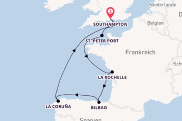 Außergewöhnliche Kreuzfahrt über Bilbao ab Southampton