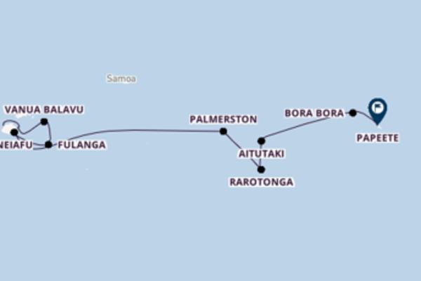 Cruise in 13 dagen naar Papeete met Silversea