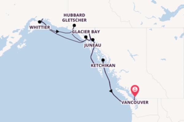 15-tägige Kreuzfahrt bis Vancouver