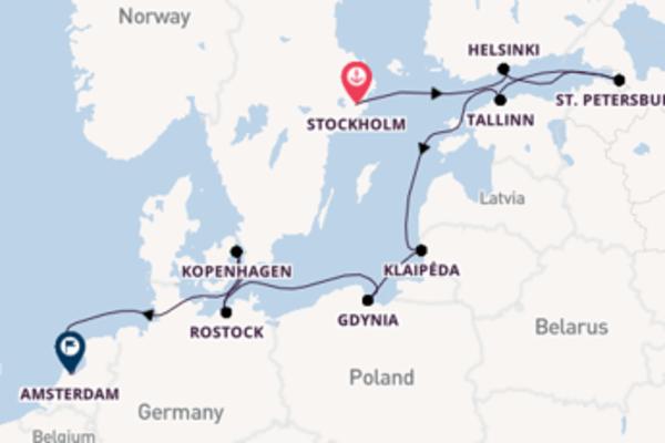 11-daagse cruise vanaf Stockholm