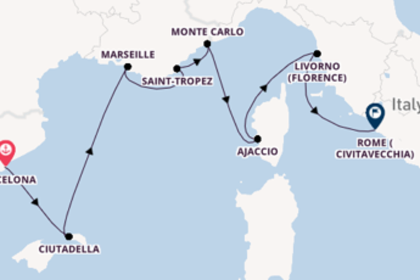 Sailing with Oceania Cruises from Barcelona to Rome (Civitavecchia)