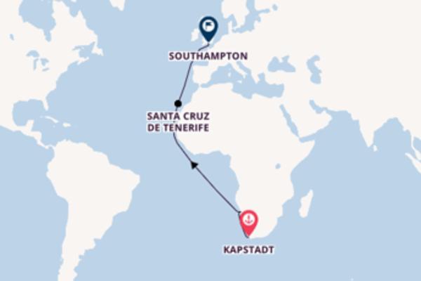 In 16 Tagen nach Southampton über Walvis Bay