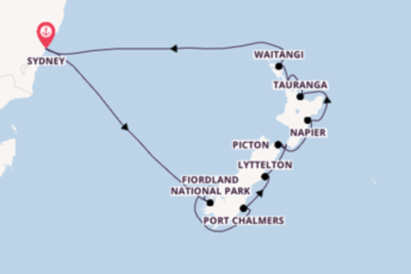 17 day cruise on board the Noordam from Sydney