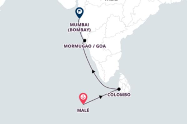 Cruising to Mumbai from Malé with Costa Victoria