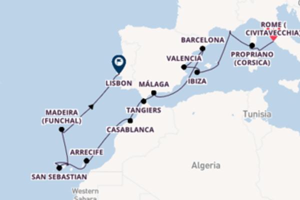 22 day expedition from Rome (Civitavecchia)