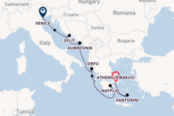 8 day cruise to Venice from Athens (Piraeus)