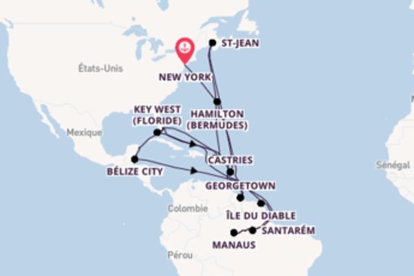 41 jours pour découvrir Saint-Georges au départ de New York