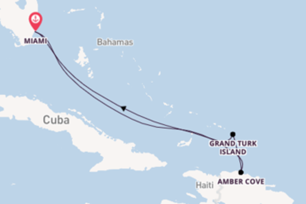 6 day voyage from Miami