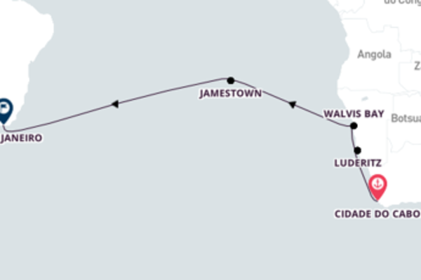 Aventura de 15 dias a bordo do Seven Seas Voyager
