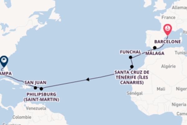 Magnifique croisière avec Carnival Cruise Lines pendant 17 jours