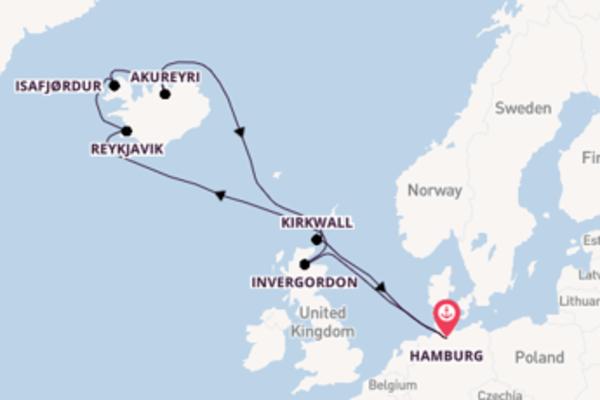 Cruise vanuit Duitsland naar magisch IJsland