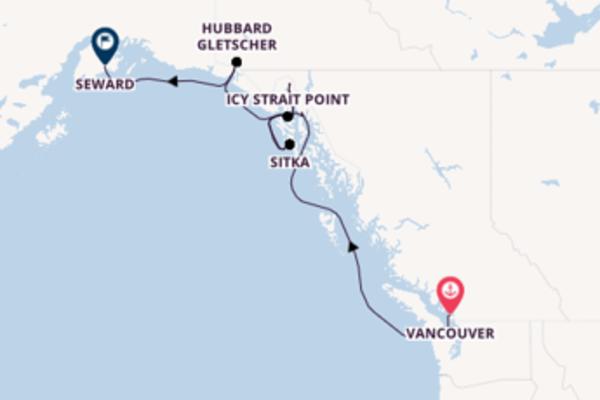 Entdecken Sie 8 Tage Skagway und Seward