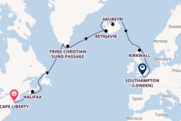 Cruise in 15 dagen naar Southampton (Londen) met Celebrity Cruises