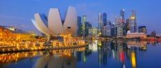 China mit Vietnam und Singapur