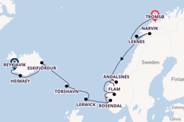 15 day voyage to Reykjavik from Tromsø