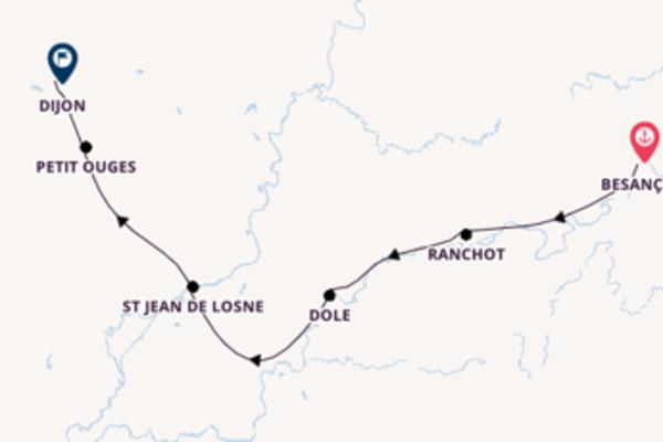 Magnificent Besançon to magnificent Dijon