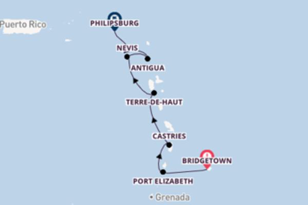 Erleben Sie Bridgetown, Terre-De-Haut und Philipsburg