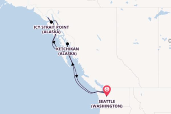 Contemplez à bord du bateau Norwegian Sun, la destination: Icy Strait Point (Alaska)