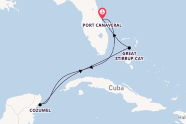Travelling from Port Canaveral via Great Stirrup Cay