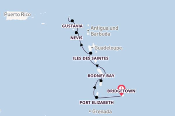 Zauberhafte Kreuzfahrt von Bridgetown nach Marigot