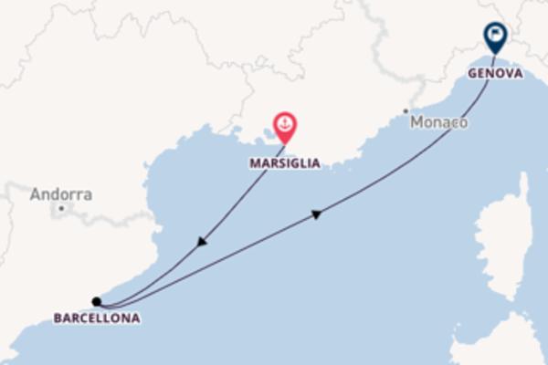 Lasciati conquistare da Marsiglia, Barcellona e Genova