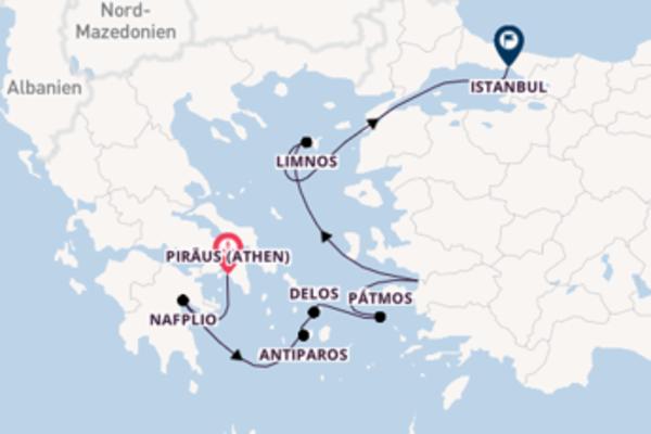 Kreuzfahrt mit Le Lyrial von Piräus (Athen) nach Istanbul