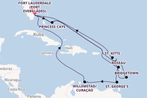 Eindrucksvolle Kreuzfahrt über Bridgetown nach Fort Lauderdale