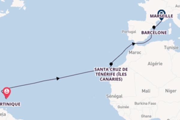 Croisière de 15 jours vers Marseille avec Costa Croisières