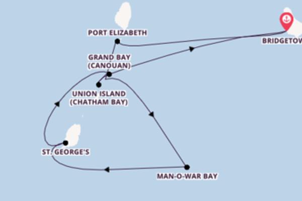 In 8 Tagen nach Bridgetown über Grand Bay