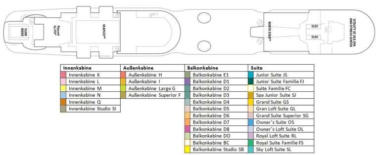 Spectrum of the Seas Deck 16